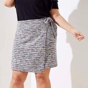 LOFT Plus Marled Stripe Wrap Skirt